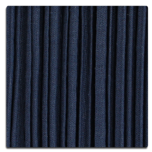 Pleated Mushroom - Navy Blue